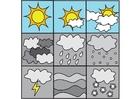 Coloriage pictogramme temps 1