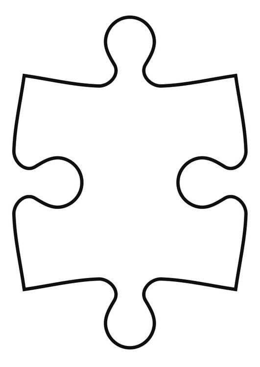 Coloriage pi ce de puzzle img 27119 - Puzzle dessin ...