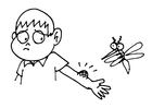 Coloriage piqûre de moustique