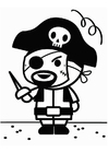 Coloriage pirate de carnaval