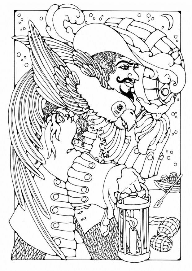 Coloriage Pirate img 19581