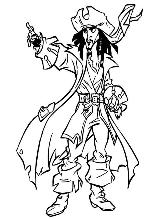Coloriage pirates des cara bes img 20754 - Dessin pirate des caraibes ...
