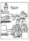 Coloriage piste de décollage