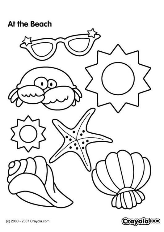 Coloriage plage img 7832 - Coloriage plage ...