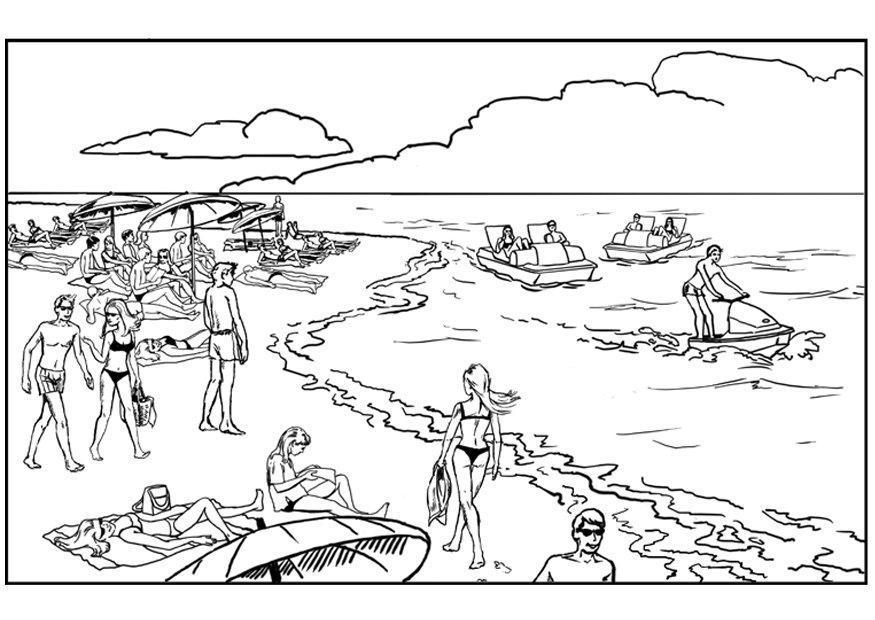 Comment dessiner un paysage de mer - Coloriage paysage mer ...