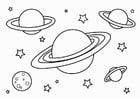 Coloriage planètes