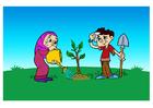 Image planter un arbre