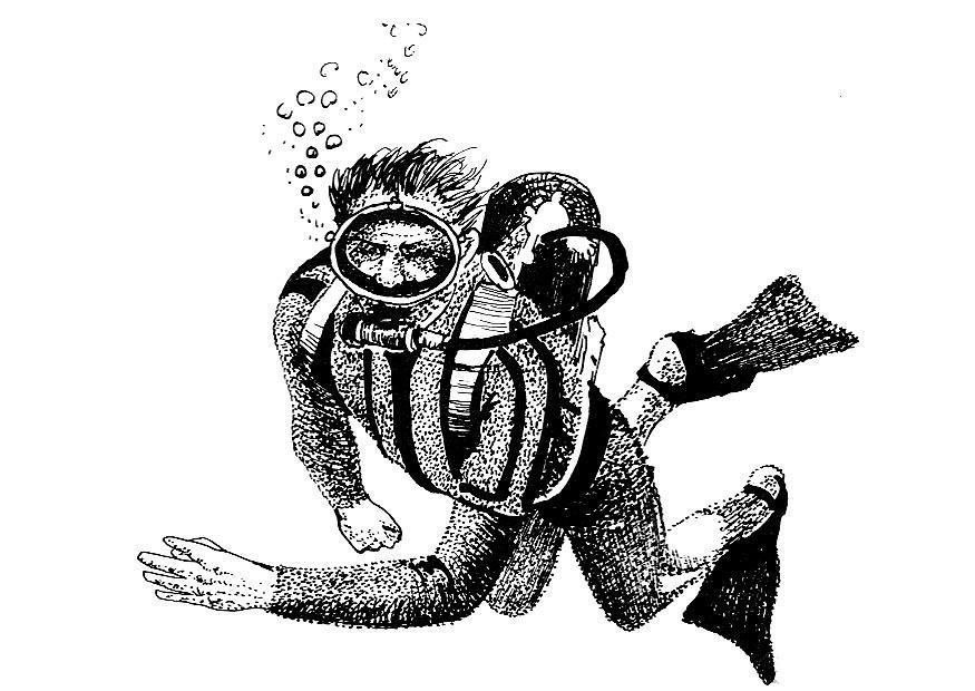 Coloriage plongeur img 8551 - Dessin plongeur ...