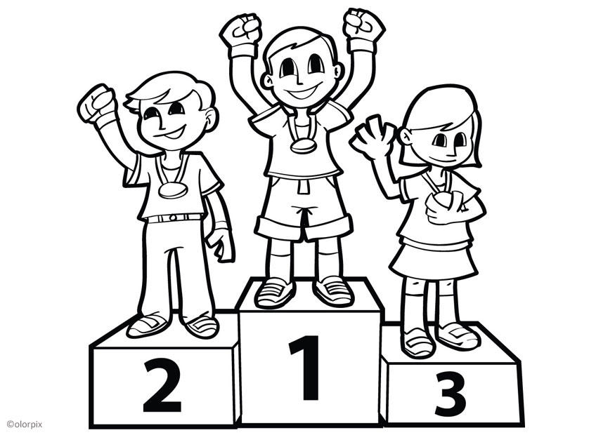 Coloriage podium img 26038 - Dessin podium ...
