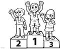 Coloriage podium