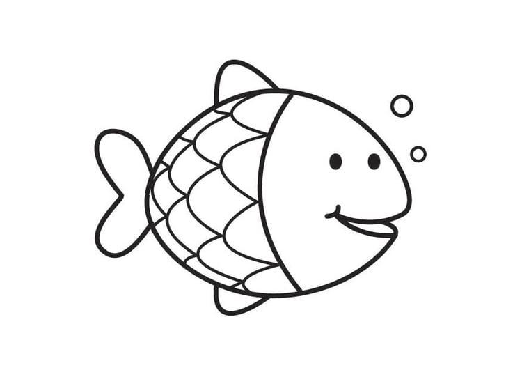 Coloriage poisson img 17714 - Dessin poisson ...