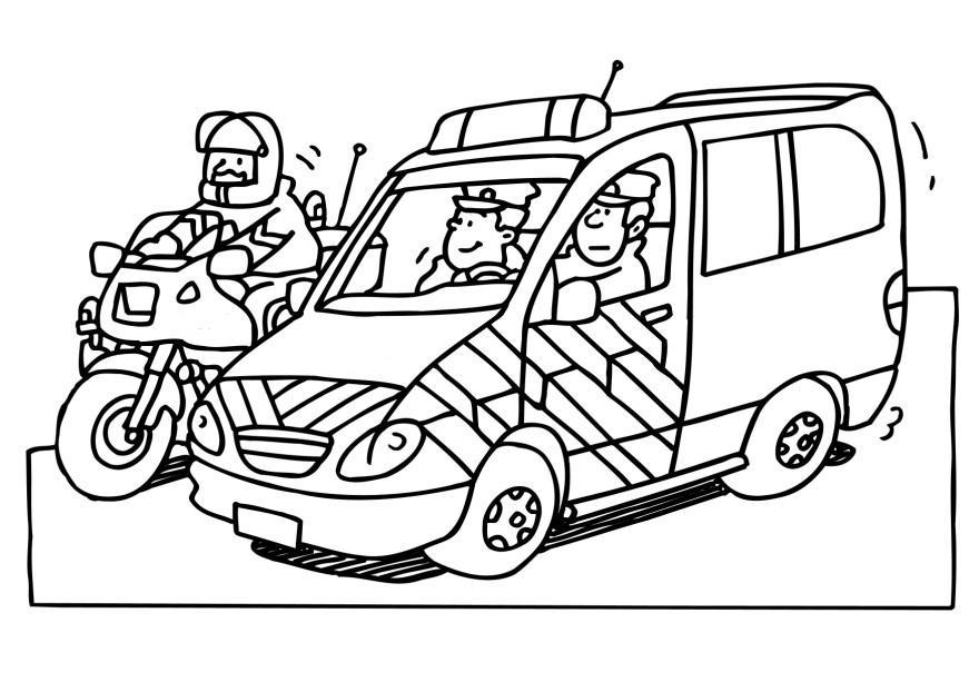 Coloriage insigne police - Coloriage police ...