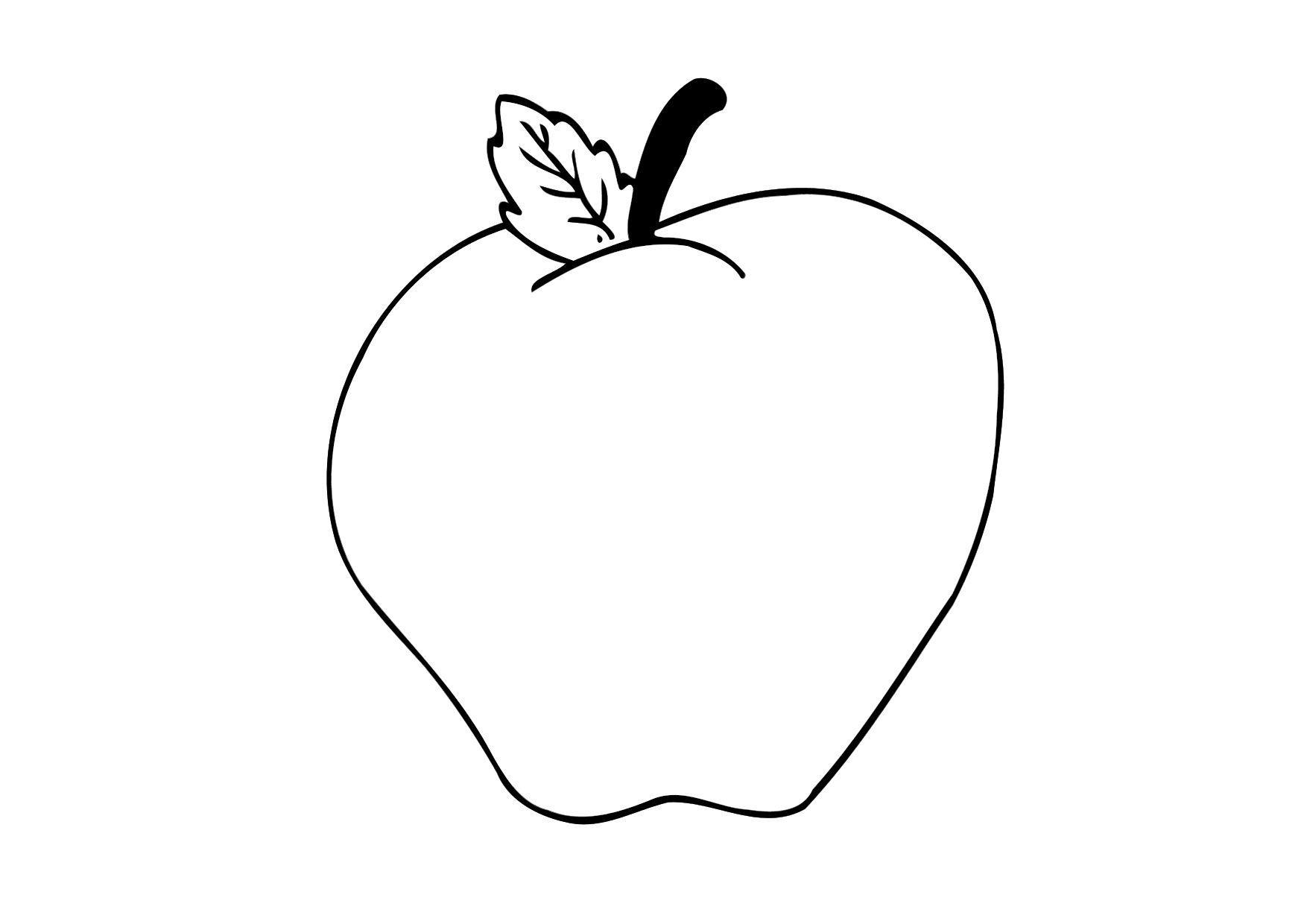 Coloriage pomme img 12305 - Dessin pomme apple ...