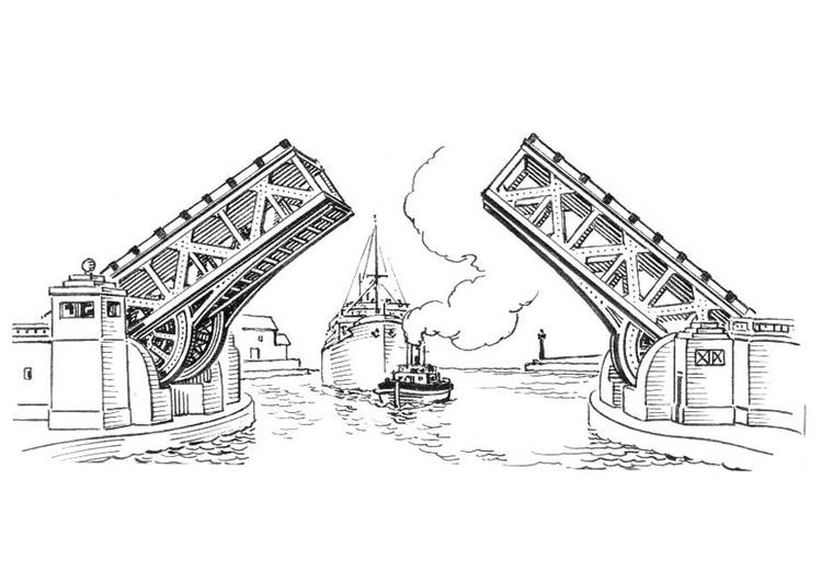 Coloriage Pont Pont A Bascule Coloriages Gratuits A Imprimer Dessin 18893
