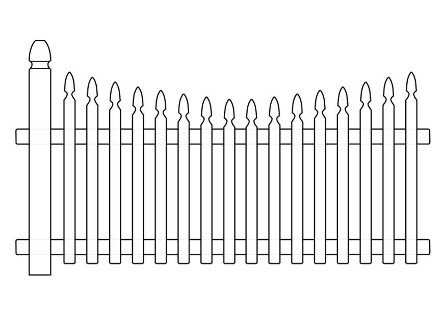 Gate coloring pages