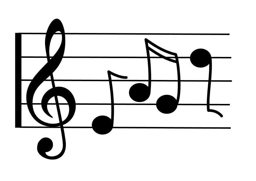 Coloriage port e de musique img 10345 - Coloriage notes de musique ...