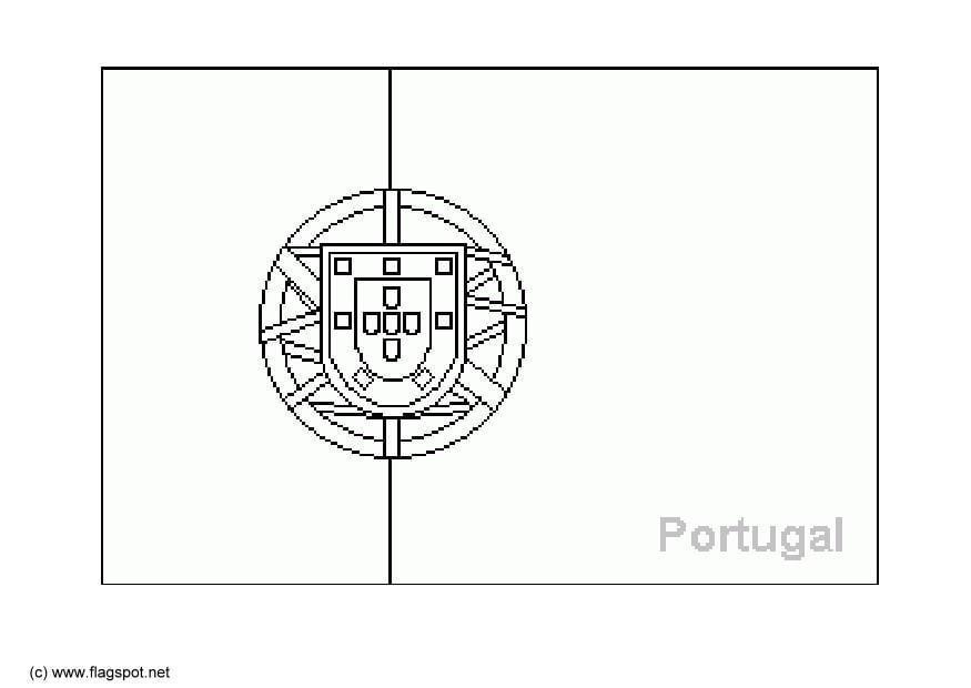 Coloriage204 coloriage drapeau portugal - Coloriage drapeau portugal ...