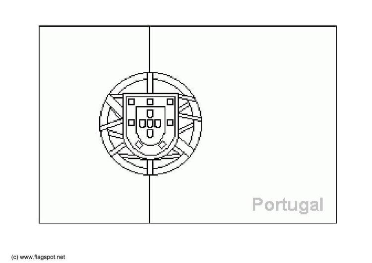 Coloriage portugal img 6381 - Drapeau portugal imprimer ...