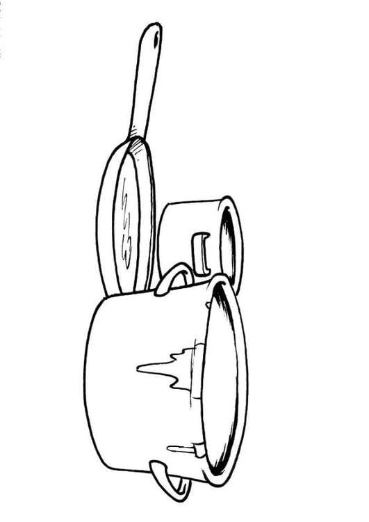 Coloriage pots et casseroles img 8201 - Casserole dessin ...