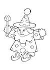 Coloriage poupée - magicien