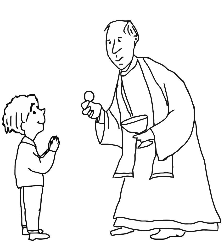 Coloriage premi re communion img 21688 for Eucharist coloring pages