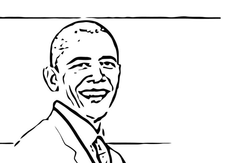 Coloriage Barack Obama Img 12689