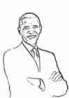 Coloriage Barack Obama