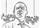 Coloriage Président Barack Obama