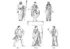 Coloriage prêtres grecs et dieux