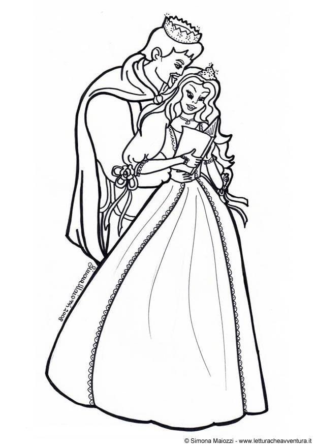 Coloriage prince et princesse img 12418 - Prince et princesse dessin ...