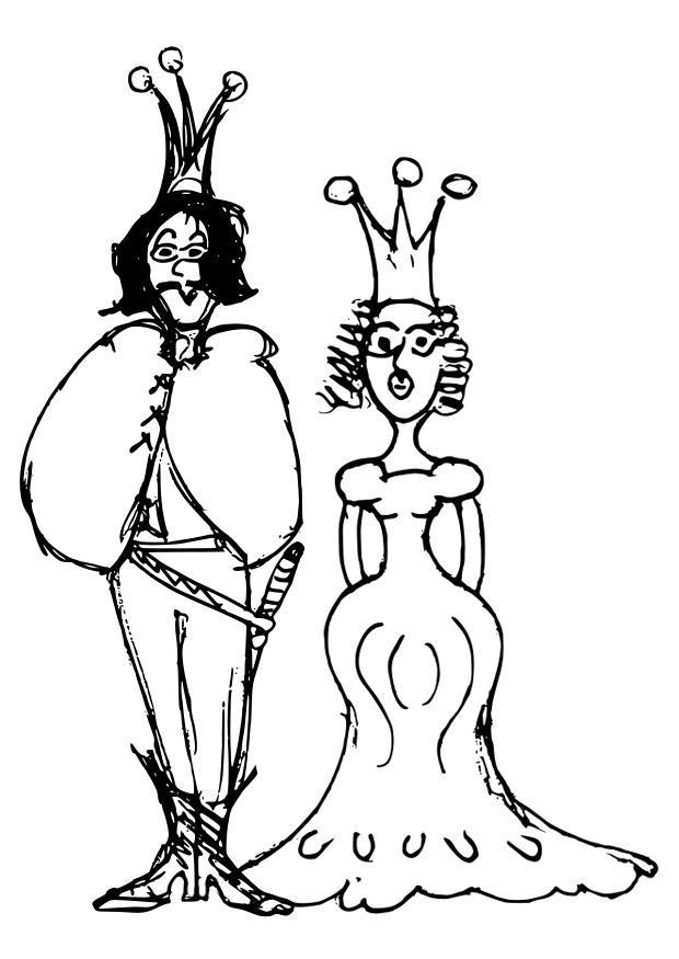 Coloriage prince et princesse img 22400 - Prince et princesse dessin ...