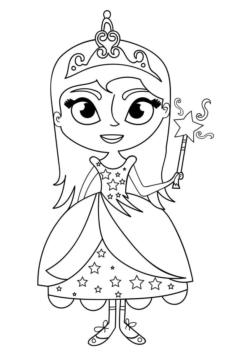 étourdissant  Mot-Clé Coloriage Princesse Sur Licorne