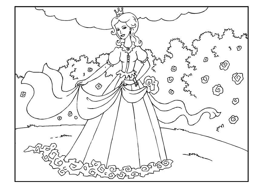 Coloriage Princesse Dans Le Jardin Img 22650