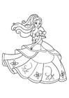 Coloriages princesse danse