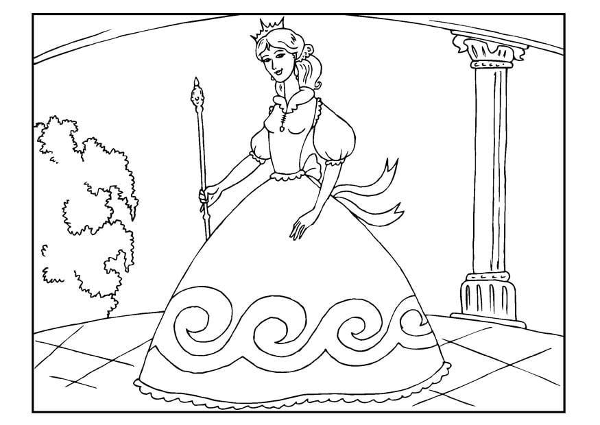 Coloriage Princesse Img 22654