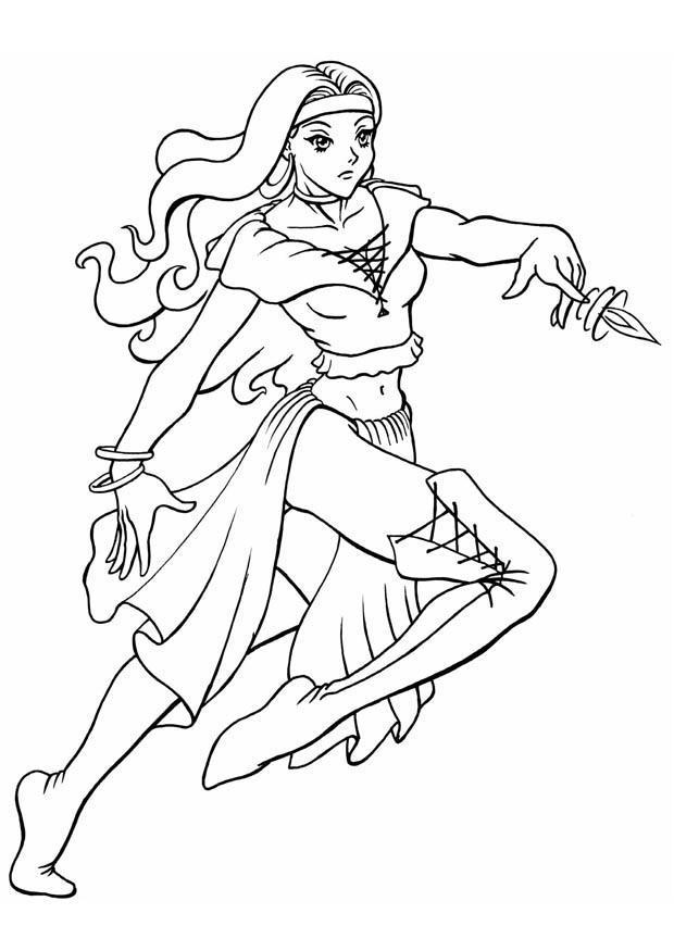 Coloriage princesse img 8828 - Dessin anime de barbie princesse ...