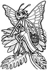 Coloriage princesse-papillon