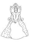 Coloriage princesse sur le trône