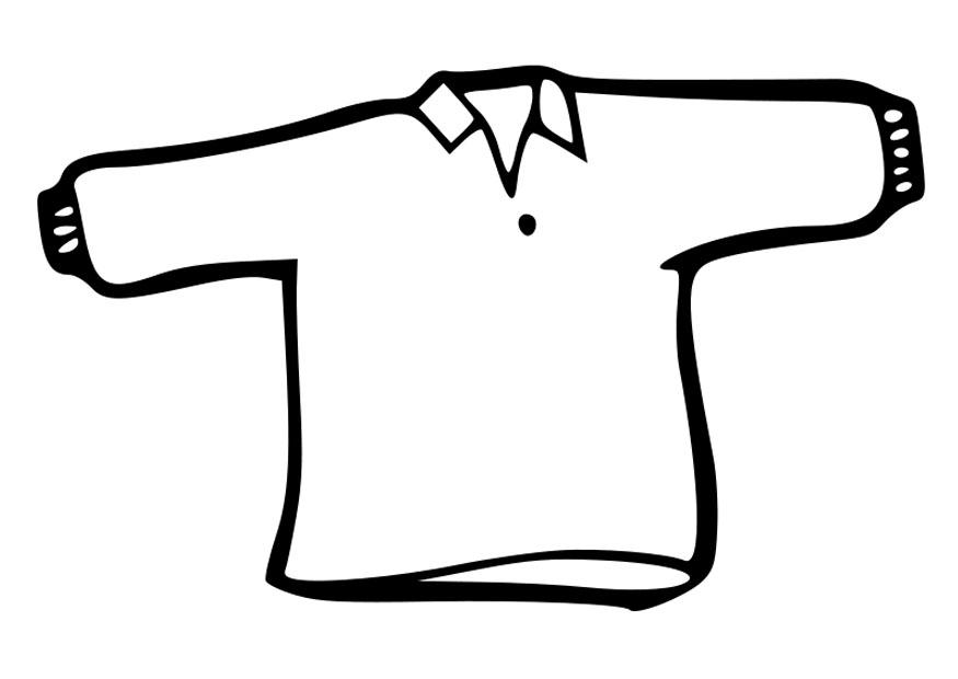 Coloriage Pull Over I19015 on School Jumper Clipart