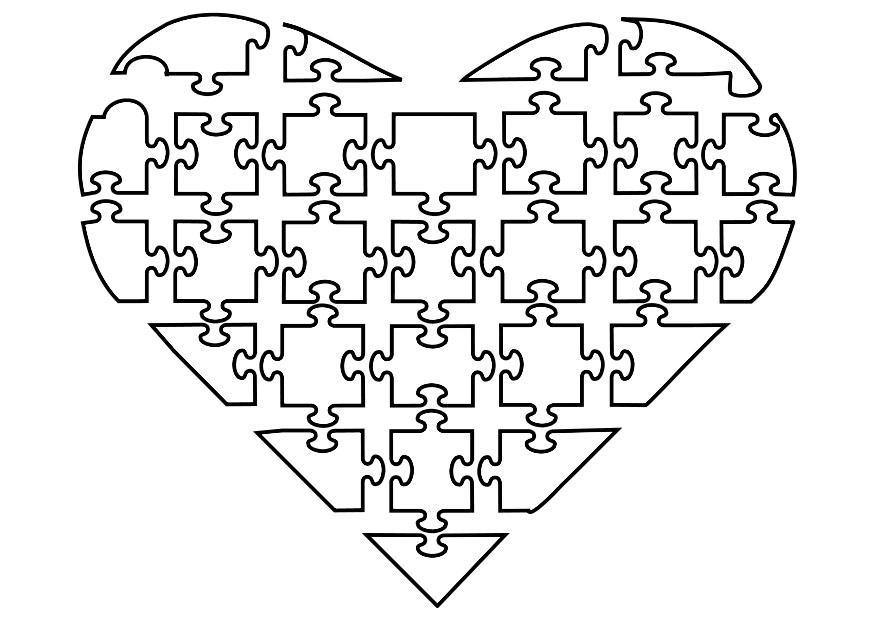 Kleurplaten Love Paarden Coloriage Puzzle De Coeur Img 21144