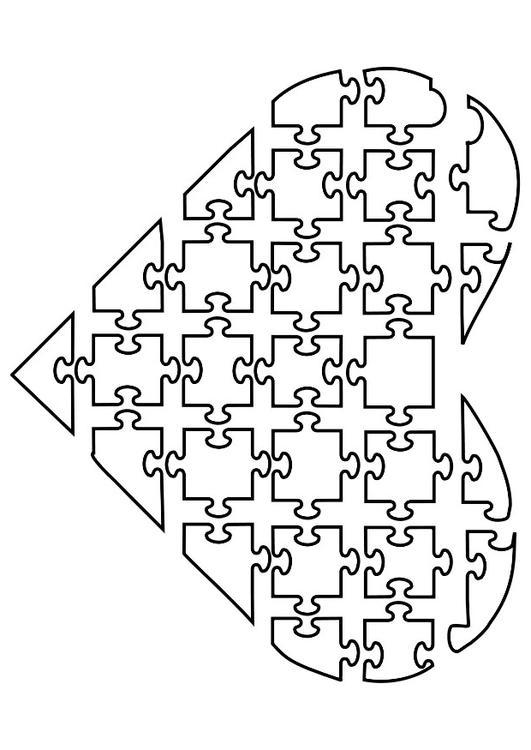Volwassenen Y Kleurplaten Coloriage Puzzle De Coeur Img 21144