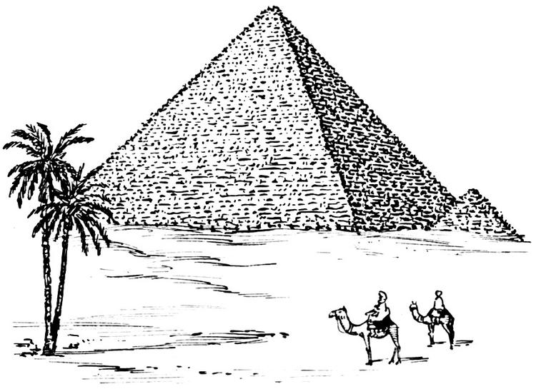 Coloriage pyramide img 15961 - Dessin de pyramide ...
