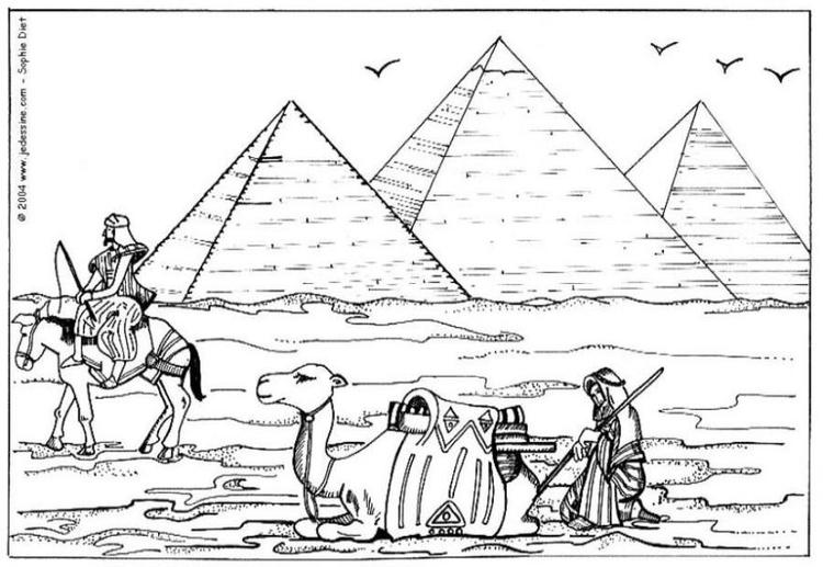 Coloriage pyramides img 6455 - Dessin de pyramide ...