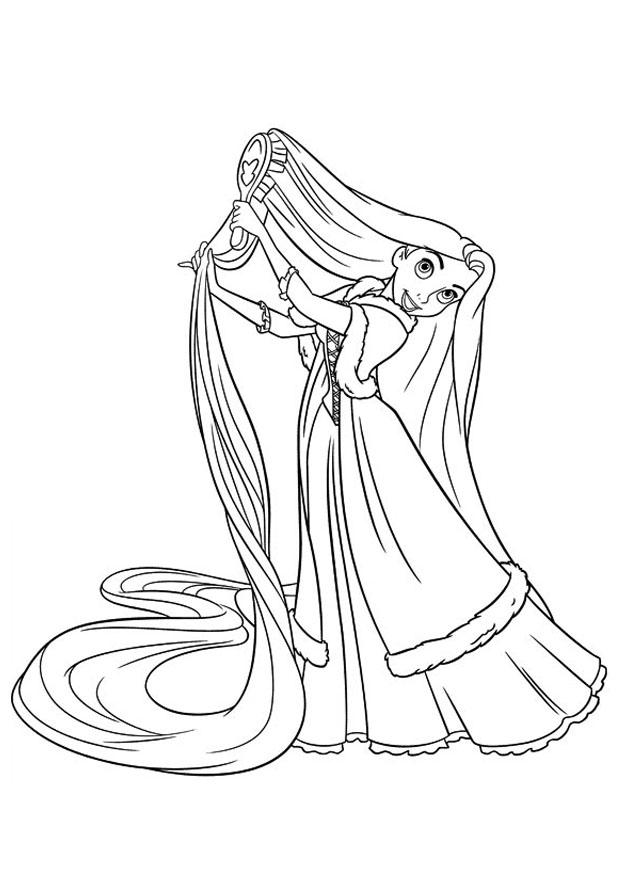 Coloriage raiponce img 20743 - Coloriages raiponce ...
