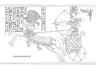 Coloriage Rames II - bataille de Kadesh