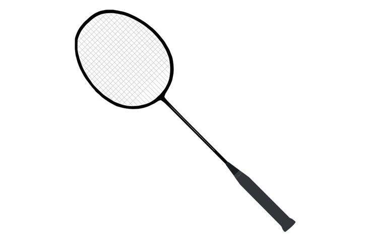 Coloriage raquette de badminton img 22712 - Raquette dessin ...
