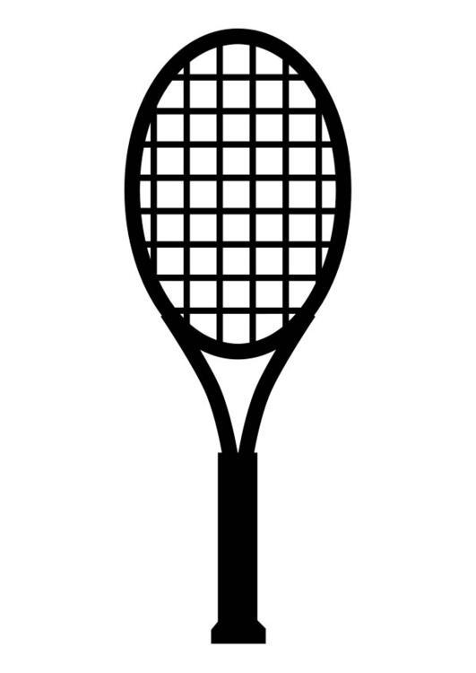 Coloriage raquette de tennis img 17413 - Dessin raquette ...