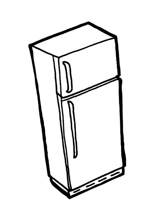 Coloriage r frig rateur avec cong lateur img 19040 for Refrigerator coloring page