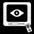 Coloriage regarder la télé