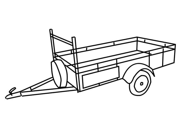 Coloriage remorque img 29176 - Dessin a imprimer de tracteur avec remorque ...